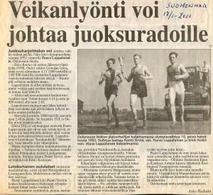 Heiton juoksijat kantoivat osan matkaa Helsingin Olympialaisten soihtua vuonna 1952.